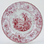 Dillon Asiatic Views pink Plate c1840