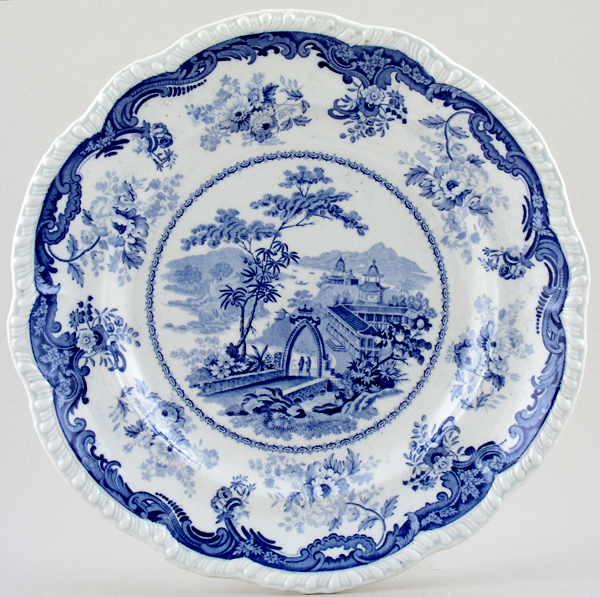 Belle Vue Pottery Chinese Marine Plate c1835
