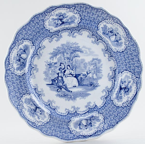 Unattributed Maker Pic-Nic Plate c1850