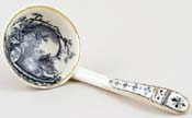 Unattributed Maker Unidentified Pattern grey Sauce Ladle c1880s