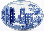 Spode Caramanian Series Drainer Castle of Boudron c1815