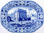 Meat Dish or Platter Triumphal Arch at Latachia c1820