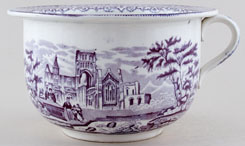 Unattributed Maker Unidentified Pattern mulberry Chamber Pot c1840