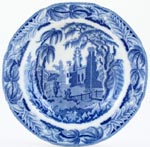 Davenport Chinoiserie Ruins Soup Plate c1820