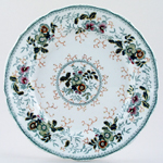 Alcock Unidentified Pattern green with colour Plate c1840