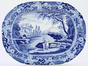 Brameld Castle of Rochefort Platter small c1830