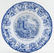 Robinson and Wood Venetian Scenery Soup Plate c1835