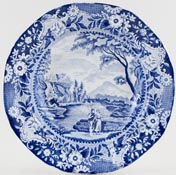 Brameld Castle of Rochefort Soup Plate c1830