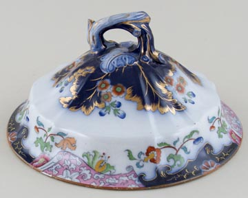 Morley Number 3 1131 colour Soup Tureen Cover c1845