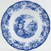 Unattributed Maker No Number Soup Plate c1860