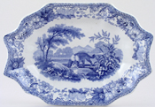 Spode Aesops Fables Dish dessert The Dog and The Shadow c1838