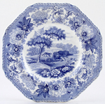 Spode Aesops Fables Plate The Lion The Bear & The Fox c1833