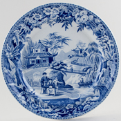 Davenport Chinoiserie High Bridge Plate c1815