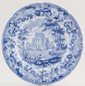 Boyle Antique Scenery Series Plate Lanercost Priory c1825