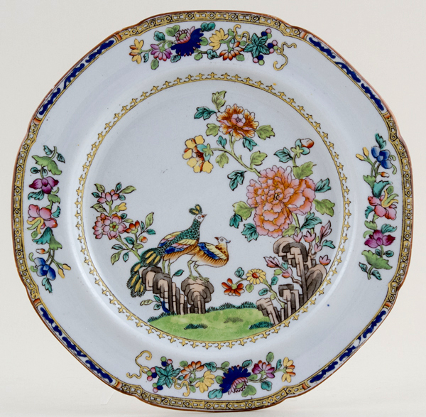 Spode Peacock colour Plate c1840