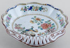 Spode Peacock colour Dish Dessert c1840