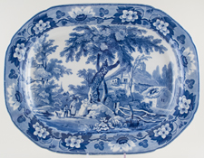 Meat Dish or Platter Woman and Boy c1815