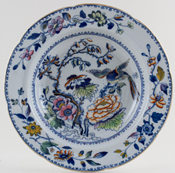 Davenport Number 6 colour Soup Plate c1840