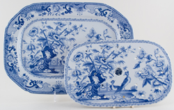 Meat Dish or Platter with Drainer c1830