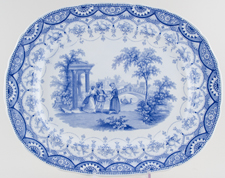 Goodwins and Harris Byron Gallery Meat Dish or Platter c1835