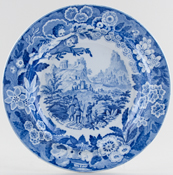 Don Pottery Italian and Sicilian Views Series Plate View near Taormina c1825
