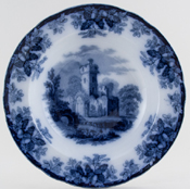 Spode Ruins Soup Plate c1850