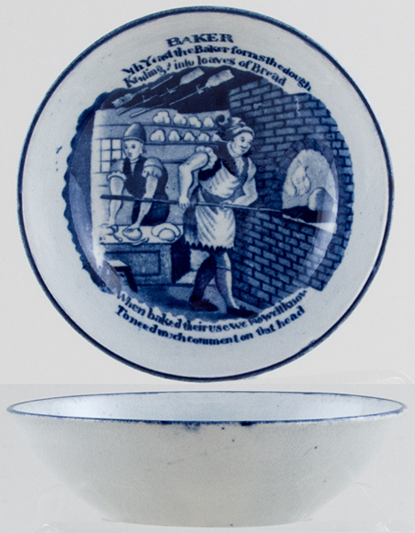 Unattributed Maker Progress of the Loaf Tea Bowl Saucer Baker c1820s