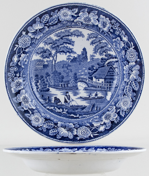 Unattributed Maker Wild Rose Soup Plate c1840
