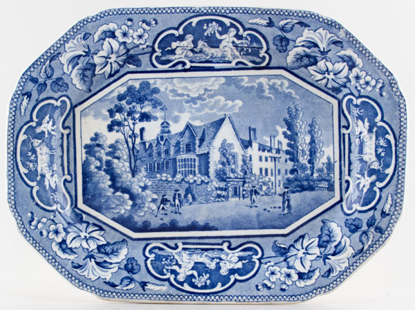 Ridgway Oxford and Cambridge College Series Meat Dish or Platter Sidney Sussex College c1825