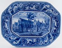 Ridgway Oxford and Cambridge College Series Meat Dish or Platter Wadham College Oxford c1825