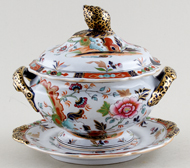 Ridgway Number 5055 colour Sauce Tureen c1835