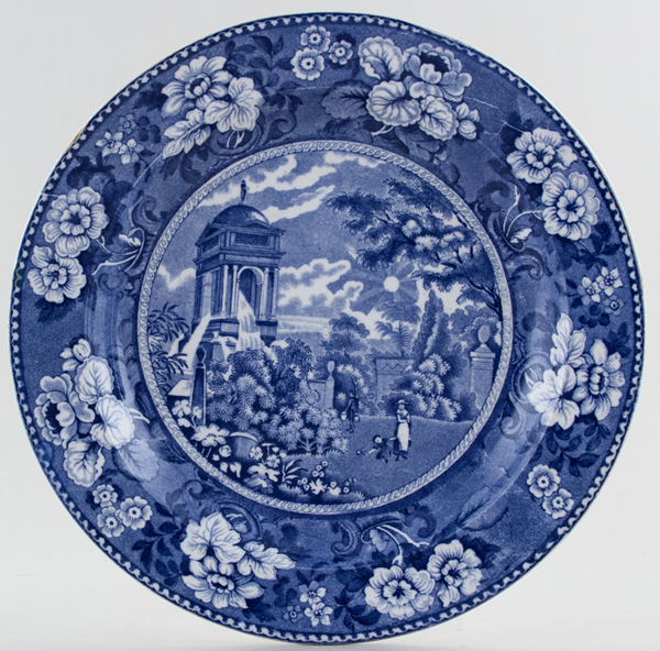 Don Pottery Sun and Fountain Plate c1830