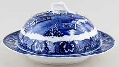 Unattributed Maker Two Temples Muffin Dish c1880