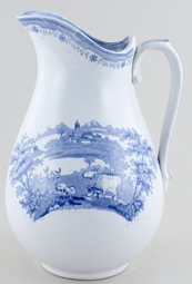 Phillips Park Scenery Ewer c1845