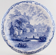 Unattributed Maker Unidentified Pattern Bread Plate c1880