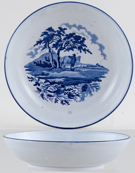 Unattributed Maker Unidentified Pattern Saucer c1820