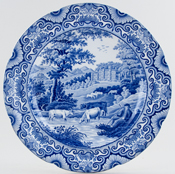 Plate Willersley Castle c1820