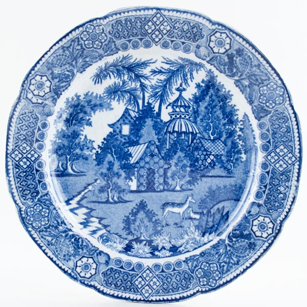 Unattributed Maker Spotted Deer Plate c1815