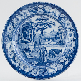 Unattributed Maker The Philosopher Plate small c1820