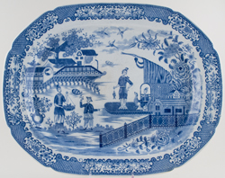 Minton Fisherman Meat Dish or Platter c1810