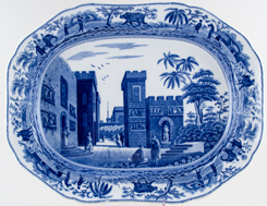 Spode Caramanian Series Meat Dish or Platter Castle of Boudron c1815