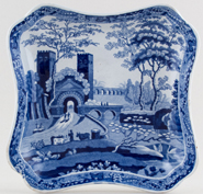 Unattributed Maker Castle Dish c1840