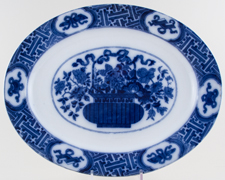 Brownfield Unidentified Pattern Meat Dish or Platter c1884