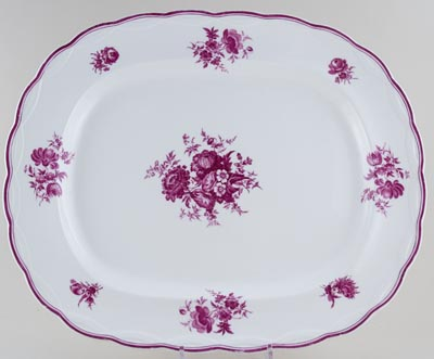 Unattributed Maker Unidentified Pattern plum Meat Dish or Platter c1840