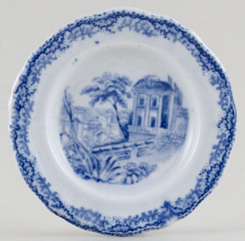 Unattributed Maker Unidentified Pattern Toy Plate c1840