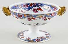 Spode Pattern No 3091 blue with colour Cream Bowl c1821