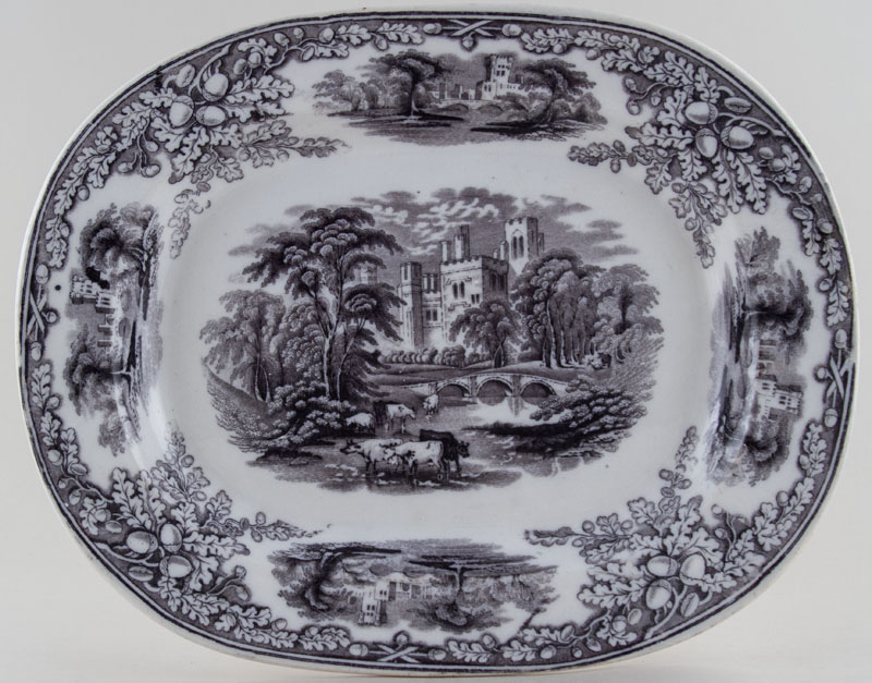 Scott Haddon brown Meat Dish or Platter small c1850