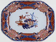Spode Frog colour Meat Dish or Platter c1820