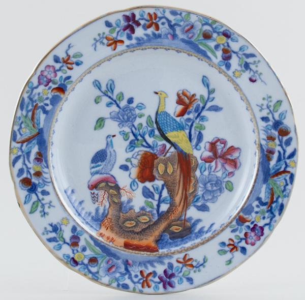 Spode Pheasant blue with colour Plate c1876