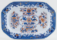 Spode Number 2086 blue with colour Platter small c1814